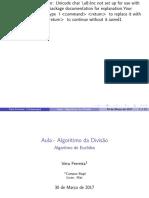 Algoritmo da divisão