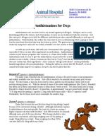 Antihistamines Dogs