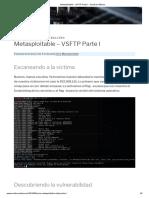 Metasploitable - VSFTP Parte I - Sombrero Blanco