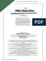Hitler, Buda, Krishna - Una Alianza Impía Desde El Tercer Reich Hasta El Día Presente - Reseña
