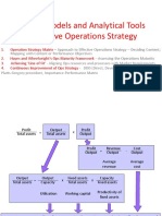 Models and Frameworks for Effective Operations Strategy
