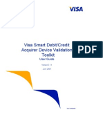 Visa Smart Debit Credit Acquirer Device Validation Toolkit