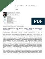 """Wikileaks Las Reflexiones Completas Del Embajador Ford Sobre """"Mel"""" Zelaya"""