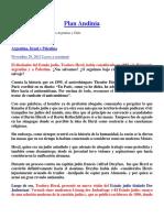 Plan Andinia Creaciòn Del Estado Judio