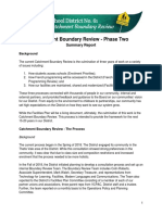 Catchment Boundary Review Phase Two Summary Report