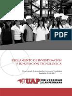 Reglamento de Investigacion e Innovacion Tecnologica