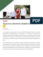 Editoriales El Proceso Electoral Colonial en Honduras