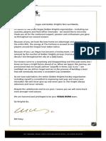 Foley Letter
