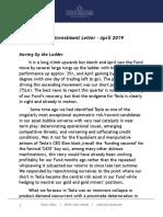 Corona Associates Capital Management, LLC - Q1 2019 Invesment Letter-4!29!19