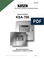 Central Analogica KSA700 Installation v1-1 (Spanish)