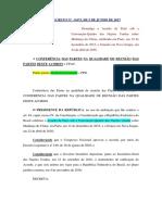 Decreto Nº 9.073, De 5 de Junho de 2017 - Acordo de Paris