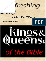 "Emphasis on ""Kings & Queens of the Bible""  May 2019"