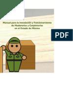 Manual para la instalación y funcionamiento de madederías y carpinterías en en estado de México