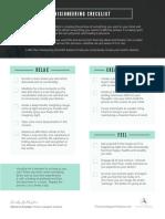 Visioneering Checklist