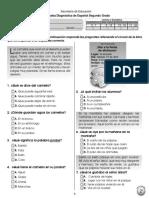 Prueba Diagnóstica Español 2º