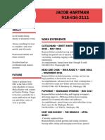 resume spring 19