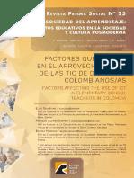 Factores que inciden en el aprovechamiento de las TIC de docentes colombianos/as