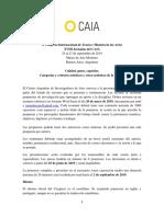 X Congreso CAIA - Convocatoria a Ponencias