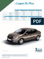 Fise de Produs Dacia Logan SL Plus 2019