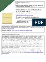 Denizen Et Al 2009 Disciplining Qualitative Researchpdf