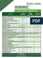 Monitoreo Horario 13 de Agosto.