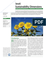 Biodiesel the Sustainablility Dimensions