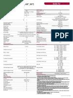 OLED C8 Product Spec Sheet