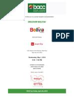 Discover Bolivia Invite