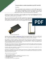 Desmontaje -Pantalla-HTC-Touch-HD