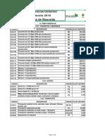 Listado Precios Unitarios de Referencia 2018