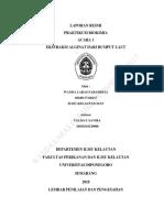 laporan praktikum ekstraksi alginat dari rumput laut