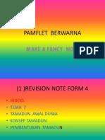 PAMFLET  BERWARNA