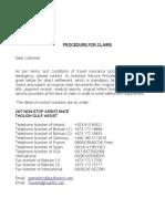 Travel Claim Settlement
