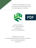 Identificación de Las Pymes Del Sector Primario en La Ciudad de Valledupar Que Aplican Proceso de Planeación Estratégica Como Herramienta Para Ser Más Eficientes y Competitivas