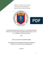 47 Factores Nutricionales Que Afectan La Actividad Insecticida de Bb Contra La Cucaracha