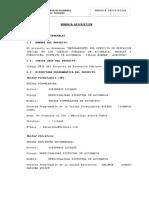 Memoria Descriptiva Proyecto Nuevo 29-07-2017
