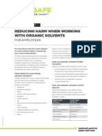 Reducing Harm With Organic Solvents