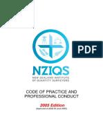 NZIQS Code of Ethics 2005 Edition