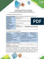 Guia de Actividades y Rubrica de Evaluacion - Actividad 1