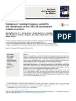 Evolution of clopidogrel response variability and identification of the CYP2C19 polimorphysm in Mexican patients