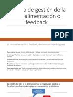 Modelo de Gestión de La Retroalimentación o Feedback
