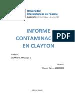 Informe de contaminación en clayton, panama
