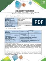 Guía de Actividades y Rúbrica de Evaluación – Fase 5- Evaluación Final Por Pruebas Objetivas Abiertas (POA)