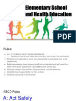 liberty elementary school physical and health education