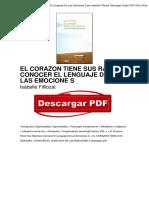 Libro El Corazon Tiene Sus Razones Conocer El Lenguaje de Las Emocione s Isabelle Filliozat PDF Gratis OTc4ODQ3OTUzNTMyMi84ODk0MjE