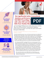 Get significantly better transactional database performance for less with value SAS and data center NVMe SSDs from Toshiba Memory