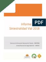 Informe Anual de Siniestralidad Vial 2018