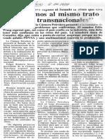 Declaraciones de La Camara Petrolera en El Senado - El Diario de Caracas 06.04.1984
