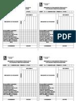 Indicadores de Evaluación de Práctica en La Especialidad de Industria Alimentaria