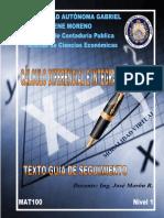 CALCULO DIFERENCIAL E INTEGRAL (Nivel 1)V19 UAGRM